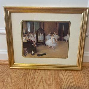 Degas ballerina framed print